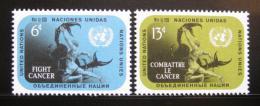 Poštovní známky OSN New York 1970 Boj s rakovinou Mi# 224-25