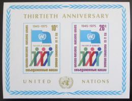 Poštovní známka OSN New York 1975 Výroèí OSN Mi# Block 6