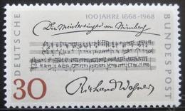 Poštovní známka Nìmecko 1968 Richard Wagner Mi# 566