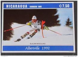 Poštovní známka Nikaragua 1992 ZOH Albertville SC# 1925