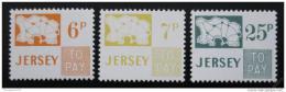 Poštovní známky Jersey 1974 Doplatní Mi# 15-17