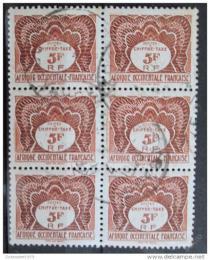 Poštovní známky Francouzská Západní Afrika 1947 Daòové blok Mi# 8