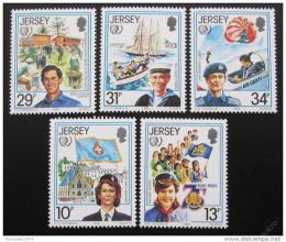 Poštovní známky Jersey 1985 Mezinárodní rok mládeže Mi# 350-54