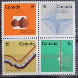 Poštovní známky Kanada 1972 Geologický kongres Mi# 502-05