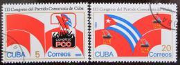 Poštovní známky Kuba 1986 Sjezd komunistické strany Mi# 2986-87