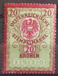 Poštovní známka Rakousko 1920 Revenue, fiskální danì