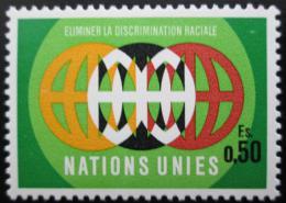 Poštovní známka OSN Ženeva 1971 Boj proti rasové diskriminaci Mi# 20