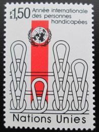 Poštovní známka OSN Ženeva 1981 Rok zdravotnì postižených Mi# 98