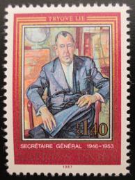 Poštovní známka OSN Ženeva 1987 Trygve Lie Mi# 151