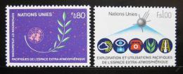 Poštovní známky OSN Ženeva 1982 Mírové využití vesmíru Mi# 107-08