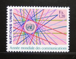 Poštovní známka OSN Ženeva 1983 Svìtový rok komunikace Mi# 111
