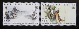 Poštovní známky OSN Ženeva 1984 Svìtový den potravin Mi# 120-21
