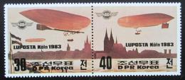 Poštovní známky KLDR 1983 Výstava LUPOSTA Mi# 2333-34 Kat 8€