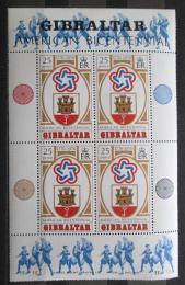 Poštovní známky Gibraltar 1976 Americká revoluce, 200. výroèí Mi# Block 2