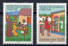 Poštovní známky OSN Ženeva 1987 Oèkování Mi# 160-61
