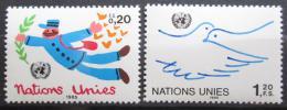 Poštovní známky OSN Ženeva 1985 Pozdravy Mi# 131-32