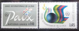 Poštovní známky OSN Ženeva 1986 Mezinárodní rok míru Mi# 145-46