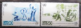 Poštovní známky OSN Ženeva 1987 Rok bydlení Mi# 154-55