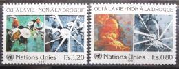 Poštovní známky OSN Ženeva 1987 Boj proti drogám Mi# 156-57