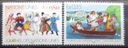 Poštovní známky OSN Ženeva 1987 Den OSN Mi# 158-59