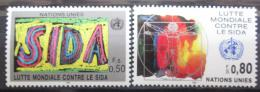 Poštovní známky OSN Ženeva 1990 Boj proti AIDS Mi# 184-85