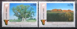 Poštovní známky OSN Ženeva 1991 Nezávislost Namíbie Mi# 198-99