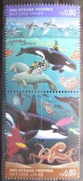 Poštovní známky OSN Ženeva 1992 Moøská fauna Mi# 213-14