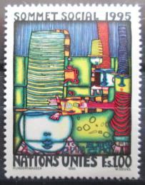 Poštovní známka OSN Ženeva 1995 Umìní, Hundertwasser Mi# 262