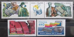 Poštovní známky Itálie 1986 Technologie Mi# 1984-87 Kat 10€
