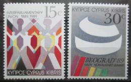 Poštovní známky Kypr 1989 Výroèí a události Mi# 720-21