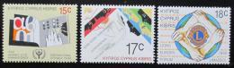 Poštovní známky Kypr 1990 Výroèí a události Mi# 745-47