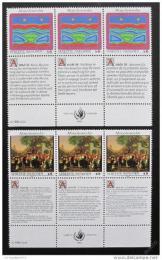 Poštovní známky OSN Vídeò 1993 Lidská práva Mi# 150-51