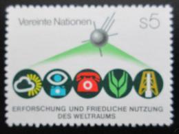 Poštovní známka OSN Vídeò 1982 Mírové využití vesmíru Mi# 26