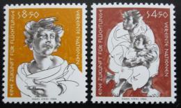 Poštovní známky OSN Vídeò 1984 Budoucnost uprchlíkù Mi# 43-44