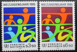 Poštovní známky OSN Vídeò 1984 Mezinárodní rok mládeže Mi# 45-46