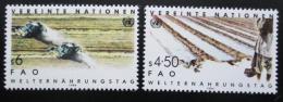Poštovní známky OSN Vídeò 1984 Svìtový den potravin Mi# 39-40