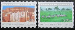 Poštovní známky OSN Vídeò 1984 Svìtové dìdictví Mi# 41-42