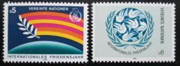 Poštovní známky OSN Vídeò 1986 Mezinárodní rok míru Mi# 62-63