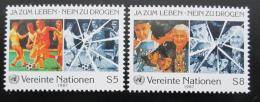 Poštovní známky OSN Vídeò 1987 Boj proti drogám Mi# 71-72