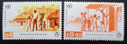 Poštovní známky OSN Vídeò 1987 Bydlení pro bezdomovce Mi# 69-70