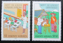 Poštovní známky OSN Vídeò 1987 Oèkování dìtí Mi# 77-78