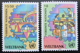 Poštovní známky OSN Vídeò 1989 Svìtová banka Mi# 89-90