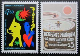 Poštovní známky OSN Vídeò 1989 Vídeòská kanceláø Mi# 94-95