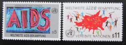 Poštovní známky OSN Vídeò 1990 Boj proti AIDS Mi# 100-01
