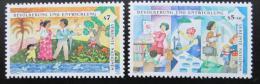 Poštovní známky OSN Vídeò 1994 Lidstvo a rozvoj Mi# 174-75