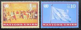 Poštovní známky OSN Ženeva 1997 Umìní a vlajka Mi# 303-04
