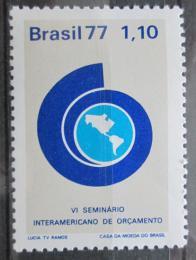 Poštovní známka Brazílie 1977 Rozpoètový semináø Mi# 1582