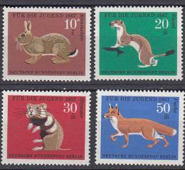 Poštovní známky Západní Berlín 1967 Fauna Mi# 299-302