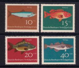Poštovní známky Nìmecko 1964 Ryby Mi# 412-15