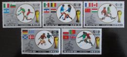 Poštovní známky KLDR 1986 MS ve fotbale Mi# 2728-30,2732-33 Kat 8.10€